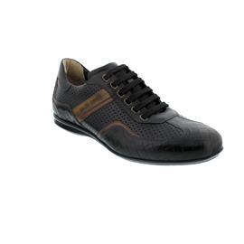 Galizio Torresi Sneaker, Buf. (Glattleder), Nero / Giallo,  Wechselfußbett 319190
