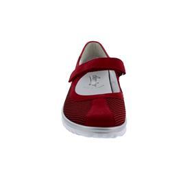 Semler Lena, Sneaker, Strick/Samt-Chevro/M-Crash, Klett, fire, Vario-Fussbett, Weite H L5065-447-066