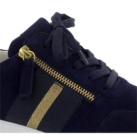 Rollingsoft Sneaker, Samtch. / Perlato, bluett/ champg  (tap), Schnürung/ Reißv., Wechself. 46.928.46