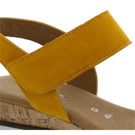 Gabor Sandalette, Samtchevreau, mango (Kork / creme), Weite G 42.750.22