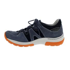 Wolky Nortec Halbschuh, Antique nubuck-suede, denim/ orange, Schnürung 0302811-820