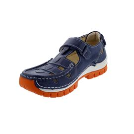 Wolky Move, Oxford leather (Glattleder), Blue-orange, Klettverschluss 0470335-845