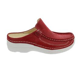 Wolky Roll-Slide, Clog, Cavia nubuck, Red Summer, 0620215-570