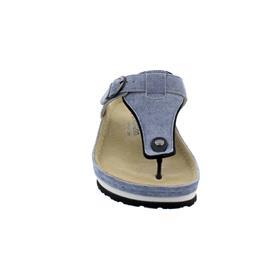 Berkemann Mila, Zehenstegpantolette, jeansblau, Leder, Weite G 01351-346