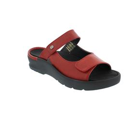 Wolky Zaandam Pantolette, Oxford leather (Glattleder), Scarlet-red, 0392635-526
