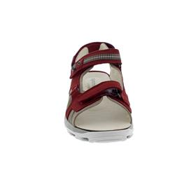 Waldläufer Hanni, Sandale Dynamic-Sohle, Denver (Nubuk), cherry corda, Weite H 448008-691-670