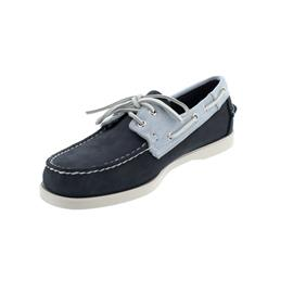 Sebago Docksides, Nubuck / Panama, navy-light blue-white, Men 7002T80-974