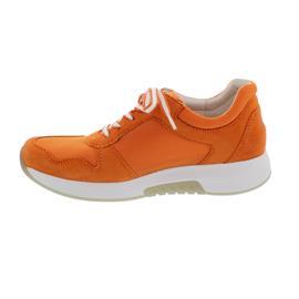 Rollingsoft Sneaker, Mesh Model / Samtchevreau, orange, Wechselfußbett 46.946.21