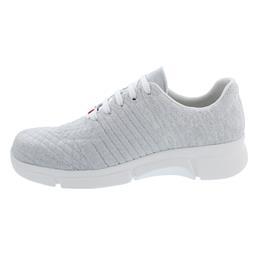 Berkemann Pinar, Sneaker, ComfortKnit (Strick), weiss /  silber / Lurex, Weite G-I 05115-104