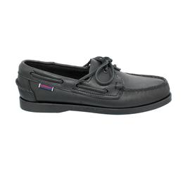 Sebago Docksides, Full-Grain Leather (Glattleder), total black, Men 7000H00-924