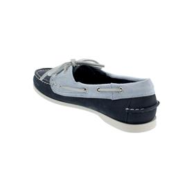 Sebago Docksides, Nubuck Panama W, navy-light blue-white, Women 711142W-974