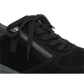 Rollingsoft Sneaker, Nubuk, schwarz (S. schwarz), Schnür./Reißvers., Wechselfußb. 06.968.47