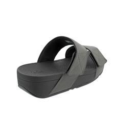 FitFlop Mina Shimmer Slides, Pewter (hellgrau), Klettverschluss BO3-054