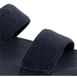 FitFlop Mina Crystal Back-Strap Sandals, Midnight  Navy, Klettverschluss BH7-399