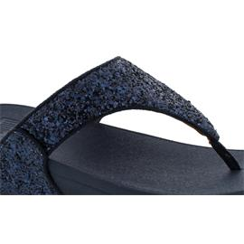 FitFlop Lulu Glitter Toe-Thongs, Midnight Navy X03-399