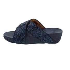 FitFlop Lulu Glitter Slides, Midnight Navy X02-399