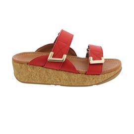 FitFlop Remi Adjustable Slides, Pantolette, Red, Klettverschluss BL6-002