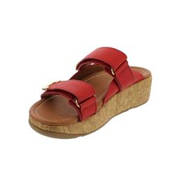 FitFlop Remi Adjustable Slides, Pantolette, Red, Klettverschluss BL6-002