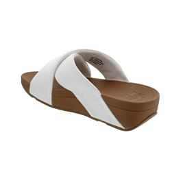 FitFlop Lulu Cross Slide Sandals - Leather, Pantolette,  Urban White K04-194