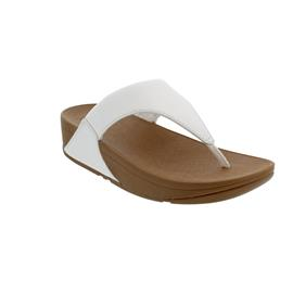 FitFlop Lulu Leather Toepost, Zehensteg, White I88-024