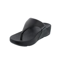 FitFlop Lulu Leather Toepost, Zehensteg, Black I88-001