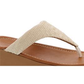 FitFlop Imogen Basket Weave Toe-Thongs, Zehensteg, Stone BD3-031