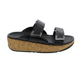 FitFlop Remi Adjustable Slides, Pantolette, All Black, Klettverschluss BL6-090