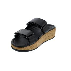 FitFlop Remi Adjustable Slides, Pantolette, All Black, Klettverschluss BL6-090