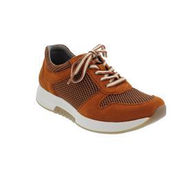Rollingsoft Sneaker, Mesh Oval / Samtchevreau, rost, Wechselfußbett 56.946.33