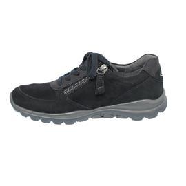 Rollingsoft Sneaker, Samtchevreau / Ohio, pazifik, Schnür./Reißvers., Wechselfußb. 56.968.26