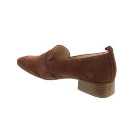 Högl Slipper, Casualvelour-Leder, nougat, 102502-2500