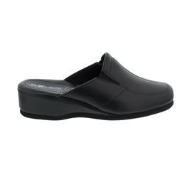 Rohde Damen Pantolette, Softnappa, schwarz, Weite G, 35 mm Keilabsatz 6142-90