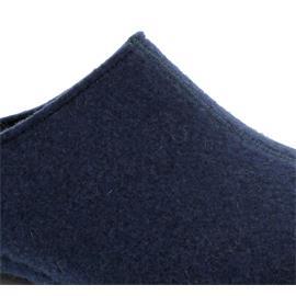 Berkemann Florina, tiefblau, Filz, Hausschuhe, Weite H, Wechselfußbett 1025-349