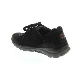 Rollingsoft Sneaker, Nubuk Oil, schwarz (S. grau), Wechselfußbett 06.965.47