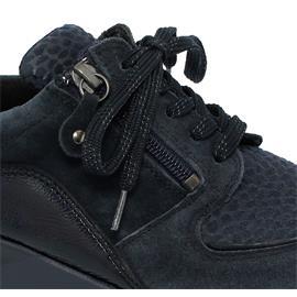 Waldläufer Hiroko-Soft, Sneaker, Velour/Taipei/Stretch,  deepblue not. marine, Weite H64007-400-763