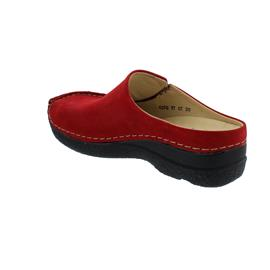 Wolky Seamy-Slide Clog, Oiled nubuck, dark-red, 0625016-505