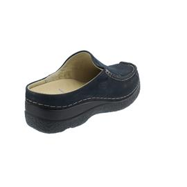 Wolky Seamy-Slide Clog, Oiled nubuck, blue, 0625016-800