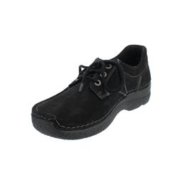 Wolky Seamy-Up Halbschuh, Oiled Nubuck, Black (schwarz), 0628916-000