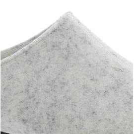 Berkemann Florina Hausschuh, weißgrau, Filz, Weite H, Wechselfußbett 01025-745