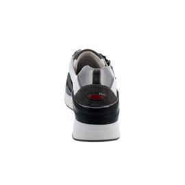 Rollingsoft Sneaker, Chevron/ Dreamvelour, weiss/schw./stone, Schnürung/ Reißv., Wechself. 56.929.20