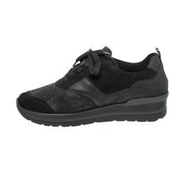 Waldläufer M-Sarah Sneaker, Denver Krokusstr. 2xBronx, schwarz, Extra-Weite M 807M01-401-001