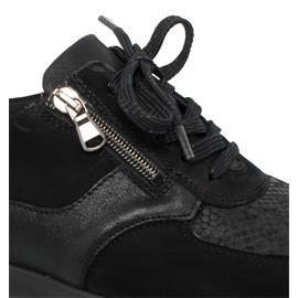 Waldläufer M-Sarah Sneaker, Denver Krokusstr. 2xBronx, Ortho- Tritt, schwarz, Extra-Weite M 807M01-401-001