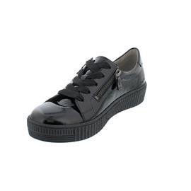 Gabor Sneaker, Knautschlack, schwarz (schwarz),  Schnür. u. Reißver., Wechselfußb. 53.334.97
