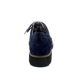 Waldläufer Hitomi Halbschuh, Brizu Rabbit  (Veloursleder),  marine schwarz, Weite H 911001-200-964