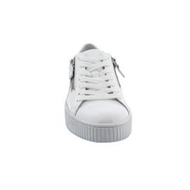 Gabor Sneaker, Knautschl. / Las Vegas, weiss,  Schnür. u. Reißver., Wechselfußb. 53.360.91
