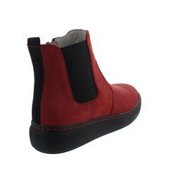 Waldläufer H-Vivien Bootie, Reißverschluss, Crazy-Horse,  rot, Weite H 763706-158-022