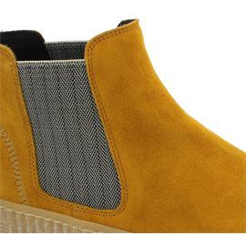 Gabor Chelsea Boot, Dreamvelour (Micro), herbst/beige  (natur),Wechselfußbett, Best-Fitting 53.731.30