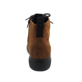 Waldläufer H-Vivien Bootie, Reißverschluss, Order (Velour), cognac LS-schwarz, Weite H 763801-195-082