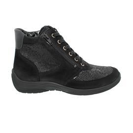 Waldläufer Hesna-Soft, Ortho-Tritt, Denver Krokusstretch   Taipei, schwarz, Weite H 312H82-312-001