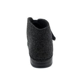 Finn Comfort Fiss Hausschuh, Wollfilz, anthrazit,  Klettverschluss 6502-416168